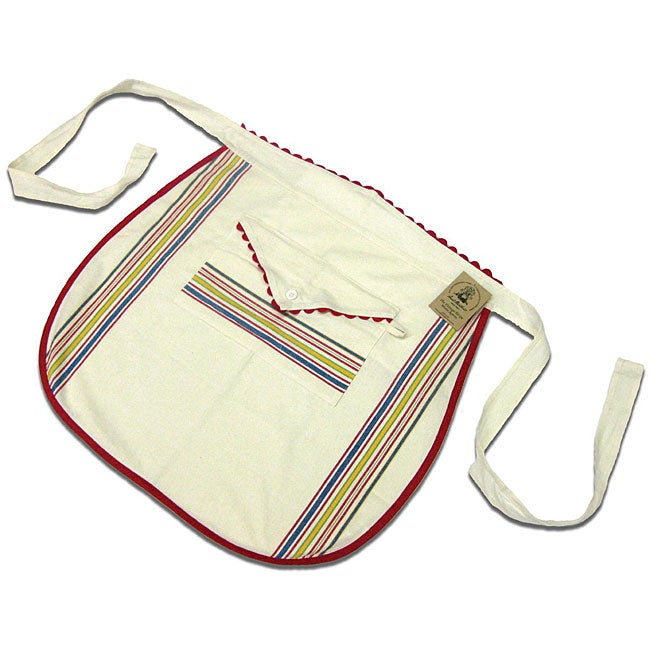 Vintage Stripe Cotton Waist Apron