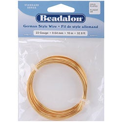 Beadalon German-style 22-gauge Goldtone Anti-tarnish Round Wire