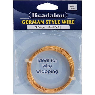 Beadalon Round 24-gauge 37.4-foot Gold Wire