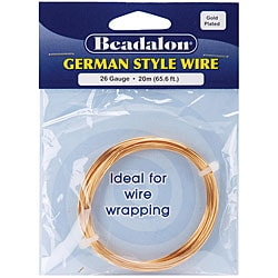 Beadalon Round 26-gauge 65.6-foot Gold Wire
