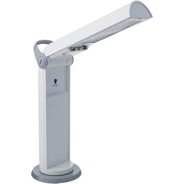 Twist Portable White/ Grey Compact Lamp