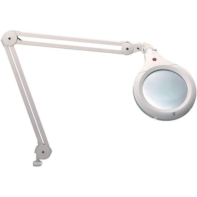 Ultra slim white magnifying lamp overstock shopping for Craft light with magnifying glass