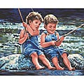 Dimensions 'Fishin' Pals' Paint By Number Kit (20 x 16)