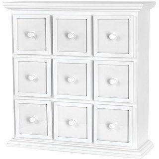Fashion Furnishings 9-drawer White Apothecary Chest