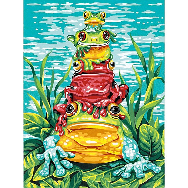 Dimensions 'Frog Pile-up' Paint By Number Kit (9 x 12) at Sears.com