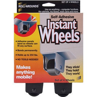 Roll-Arounds Self-adhesive Instant Wheels (Pack of 4)