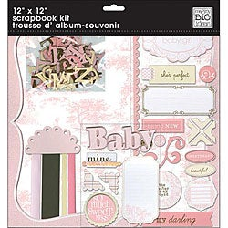 Baby Girl 12-inch Scrabook Page Kit