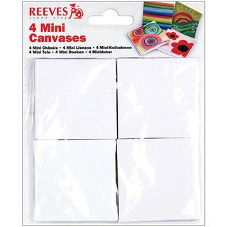 Reeves 2.75x2.75 Mini Canvases (Pack of 4)
