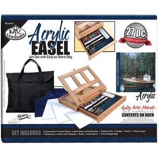Bob ross wooden table top artist easel 13831915 for Craft smart acrylic paint walmart