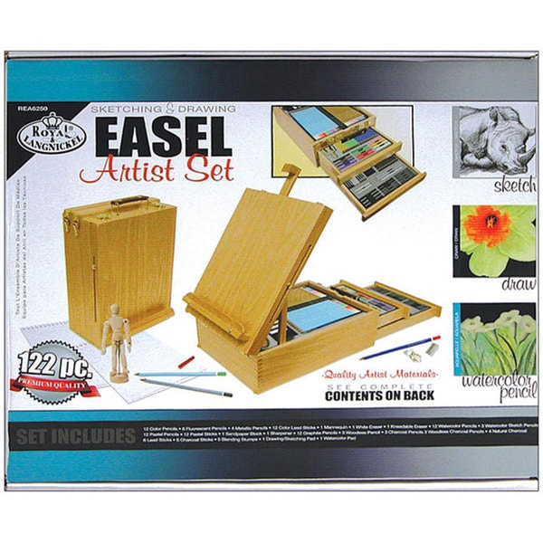 Royal and Langnickel 122-piece Desk Easel and Artist Kit Set
