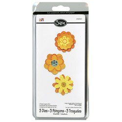 Sizzix Sizzlits 'Flower Layers' Die Set (Package of 3)
