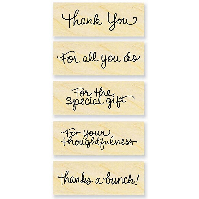 Stampendous 'Many Thanks' Wood Stamps (Pack of 5)