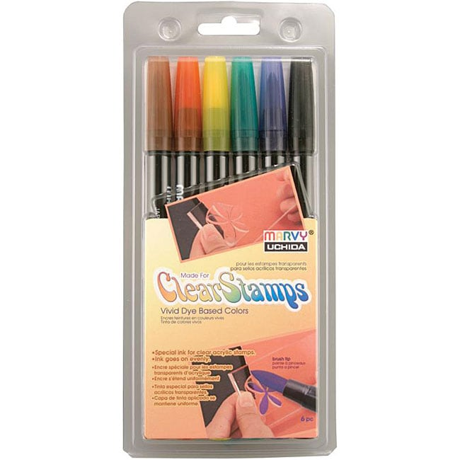 Uchida Clear Stamp Brush Markers
