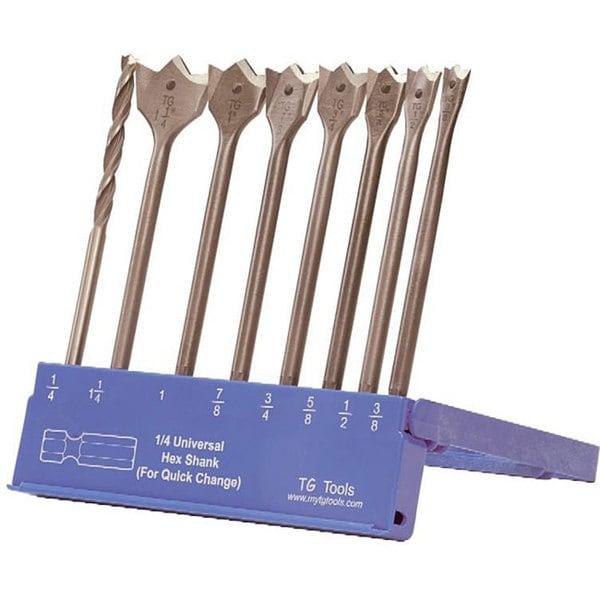 TG Tools KIK Spade 8-piece Combo Drill Bit Set