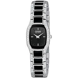 Citizen Women's Eco-Drive Normandie Black Resin Watch