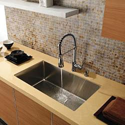 VIGO 30-inch Undermount Stainless Steel 16 Gauge Single Bowl Sink