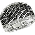 Miadora 10k Gold 1ct TDW Black and White Diamond Ring (H-I, I1-I2)
