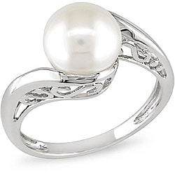 Miadora 10k White Gold Cultured Freshwater Pearl Ring (8-8.5 mm)