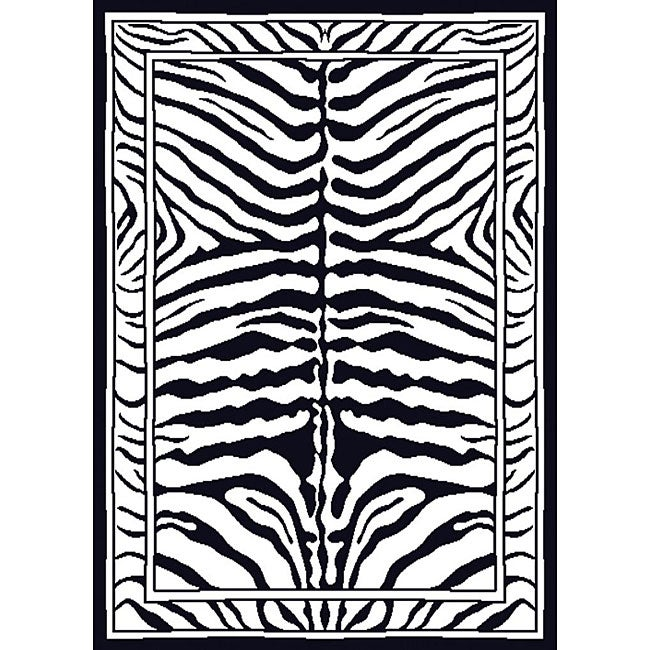 Contemporary Zebra Area Rug (5'2 x 7'4)