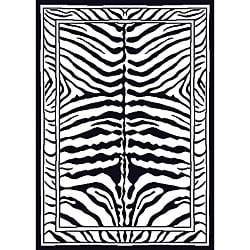 Contemporary Zebra Area Rug (5'2 x 7'4)
