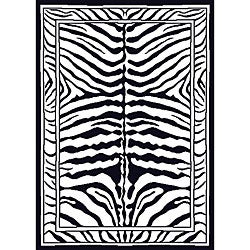 Contemporary Zebra Area Rug (7'8 x 10'7)