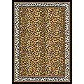 Leopard Border Rug (7'8 x 10'7)