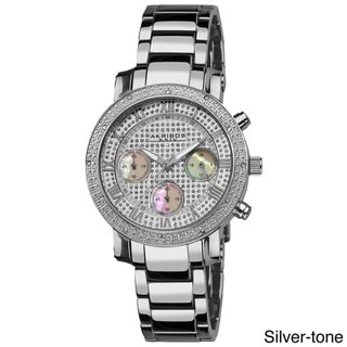 Akribos XXIV Women's Stainless Steel Diamond Multifunction Chronograph Bracelet Watch