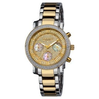 Akribos XXIV Women's Diamond Quartz Chronograph Round Bracelet Watch