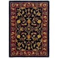 Safavieh Handmade Heritage Heirloom Black/ Red Wool Rug (2' x 3')