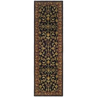 Safavieh Handmade Heritage Heirloom Black/ Red Wool Runner (2'3 x 4')