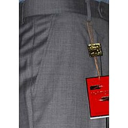 Men's Medium Gray Wool Single-pleat Pants