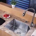 Kraus Stainless-Steel Undermount Kitchen Sink, Chrome Faucet/Soap Dispenser