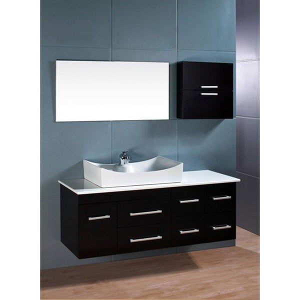 Design Element Springfield Contemporary Wallmount Bathroom Vanity Set