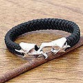 Braided Leather 'Hand in Hand' Men's Bracelet (Indonesia)