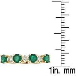D'Yach 14k White Gold Emerald and 1/8ct TDW Diamond Ring (I-J, I) (Size 7)