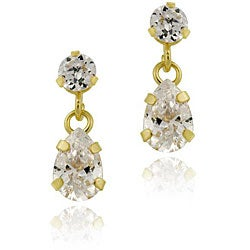 Icz Stonez 10k Yellow Gold Cubic Zirconia Dangling Earrings