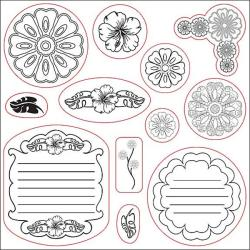 Fiskars 12-piece Clear Rubber Stamp Set
