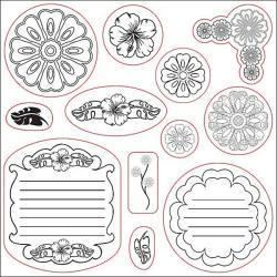 Fiskars 12-piece Clear Rubber Stamp Set