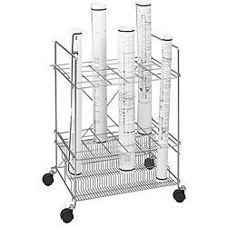 Safco 23 Compartment Tiered Chrome Wire Roll File
