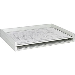 Safco Giant Stack Steel-reinforced Molded-polyethylene Tray Two-pack