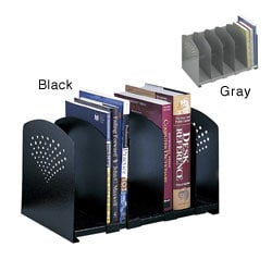 Safco Contemporary Five-section Adjustable-divider Steel Book Rack