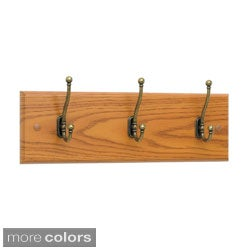 Safco 3-hook Wood Wall Rack (Case of 6)