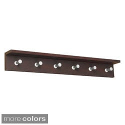 Safco Contempo 6 Hook Wood Wall Rack