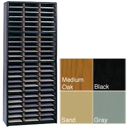 Safco Value Sorter 72 Compartment,Lit. Org., Black-BL, Gray-GR, Medium Oak-MO, Sand-SA