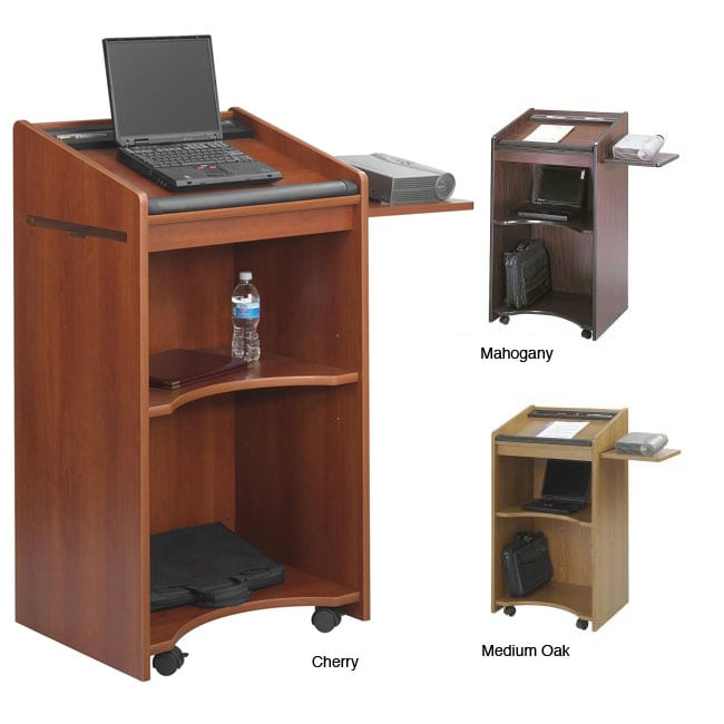 Safco Executive Mobile Lecture Podium 12581028  : Safco Executive Mobile Lecture Podium L12581028 Existing Desk <strong>with Sitting to Standing Desk Platform Converts</strong> from www.overstock.com size 650 x 650 jpeg 42kB