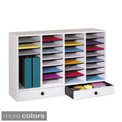 Safco 36-Compartment Laminate-Finish Literature Organizer