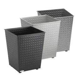 Safco 6-gallon Checks Wastebasket (Pack of 3)