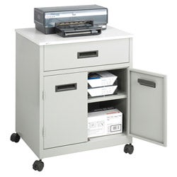Safco Grey Machine Stand w/ Drawer