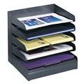 Safco 5-tier Steel Black Desk Tray