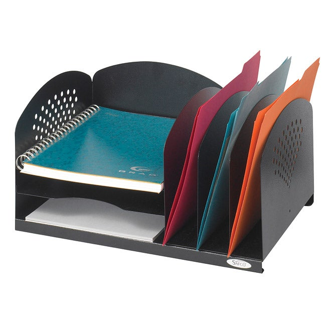 Safco Combination Desk Organizer Rack with 3 Vertical/3 Horizontal Sections